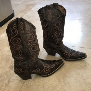 Swirl Embroidered Cowboy Boots